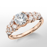Monique Lhuillier Petal Garland Diamond Engagement Ring in 18k Rose Gold (1/2 ct. tw.)