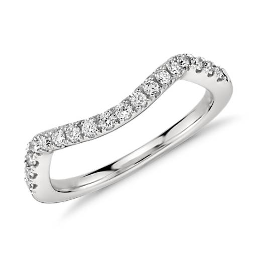 Monique Lhuillier Pavé Diamond Ring in Platinum (.20 ct. tw.)