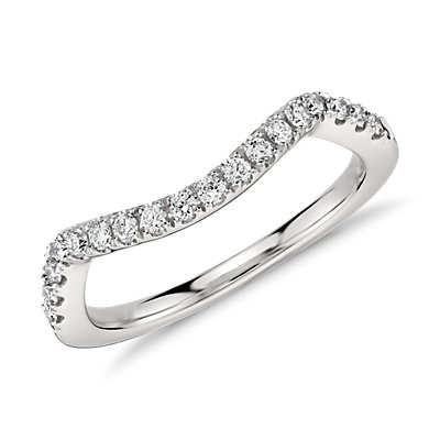 Monique Lhuillier Pavé Diamond Ring in Platinum  (1/5 ct. tw.)