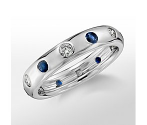 Monique Lhuillier Sapphire and Diamond Band
