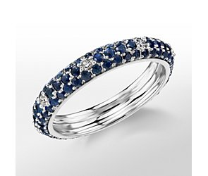 Monique Lhuillier Sapphire and Diamond Pavé  Band