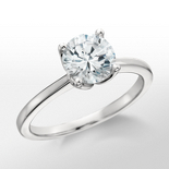 Solitaire Monique Lhuillier Engagement Ring in Platine