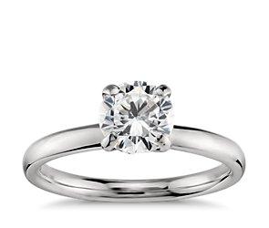 Monique Lhuillier Classic Solitaire Engagement Ring in Platinum
