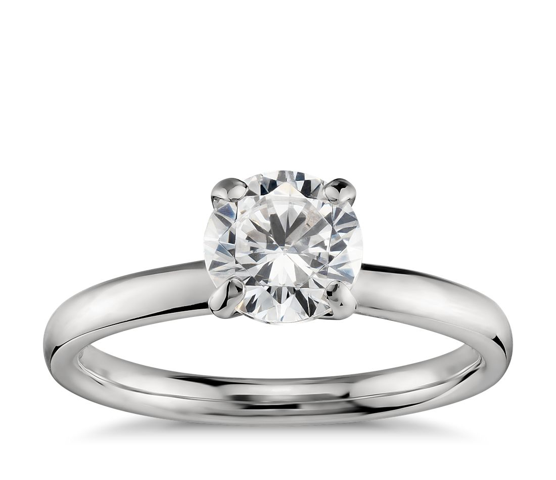 Monique lhuillier amour solitaire engagement ring in for Wedding rings to go with solitaire engagement ring