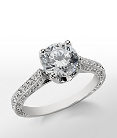 Monique Lhuillier Trio Cathedral Engagement Ring