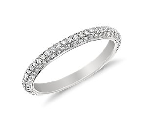 Monique Lhuillier Trio Diamond Ring in Platinum