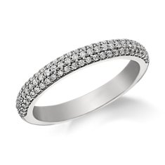 Monique Lhuillier Trio Diamond Wedding Ring in Platinum
