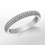 Monique Lhuillier Trio Diamond Wedding Ring