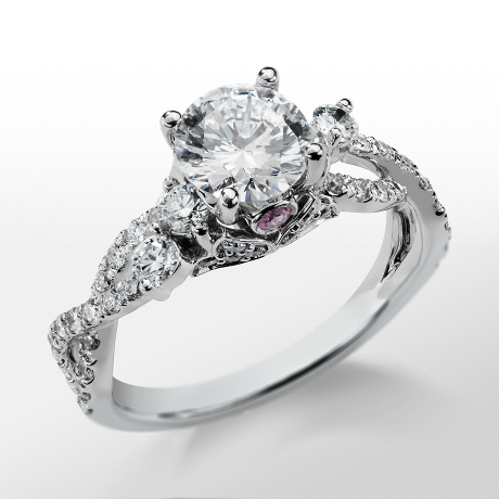 Monique Lhuillier Twist Diamond Engagement Ring