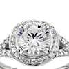 Monique Lhuillier Twist Halo Engagement Ring in Platinum