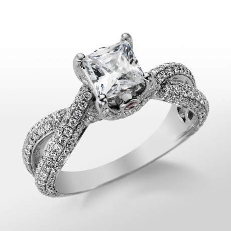 Monique Lhuillier Twist Trellis Engagement Ring