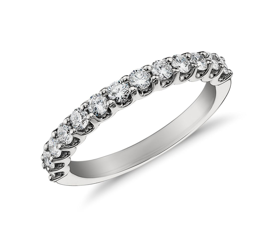 Monique Lhuillier U-Claw Diamond Wedding Band in Platinum
