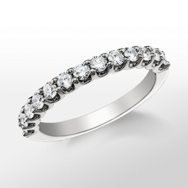 Monique Lhuillier U-Claw Diamond Wedding Band