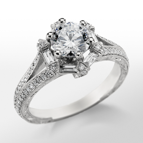 Monique Lhuillier Vintage Hexagon Engagement Ring