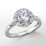 Monique Lhuillier Wreath Halo Diamond Engagement Ring in Platinum (1/3 ct. tw.)