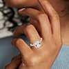 Bague halo diamant et morganite taille coussin en or rose 14carats (8x8mm)