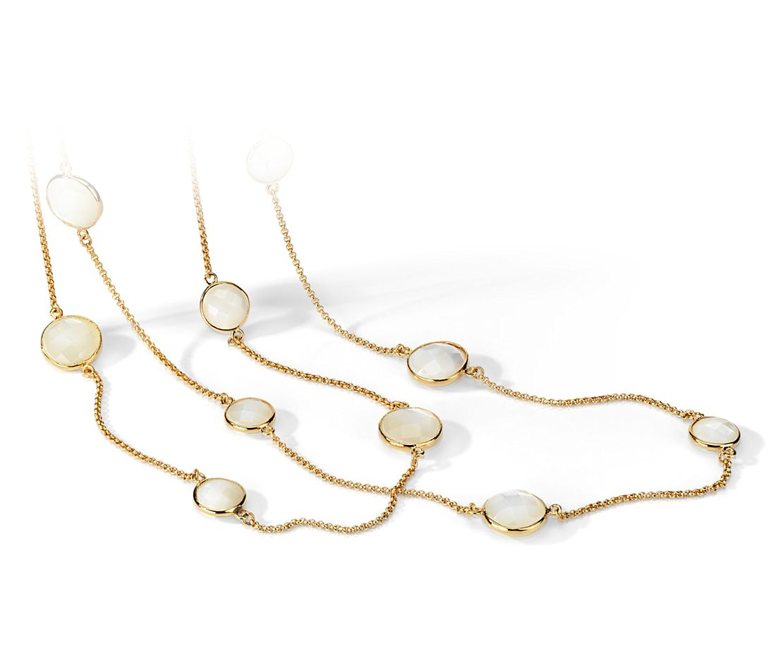 Mother of Pearl Necklace in Gold Vermeil