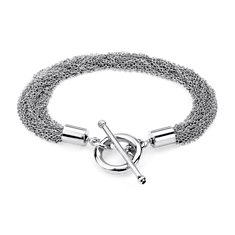 Multi Strand Bracelet in Sterling Silver
