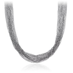 Mutli Strand Necklace in Sterling Silver