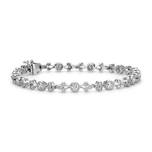 Multishape Diamond Bracelet in 18k White Gold