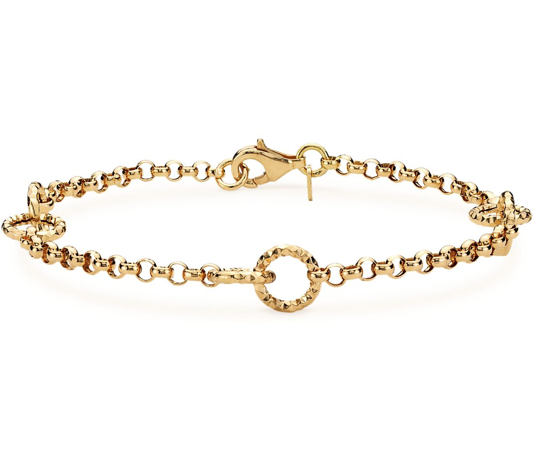 Muse Link Bracelet in 14k Yellow Gold