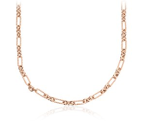 Petite Figaro Necklace in Rose Gold Vermeil - 24