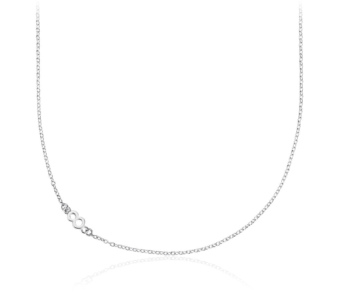 Number Eight Necklace in Sterling Silver