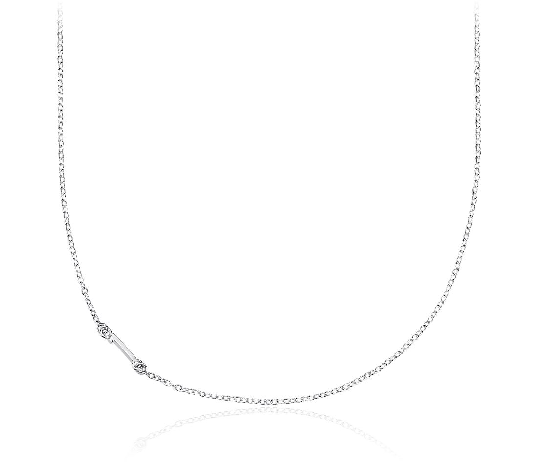 Number One Necklace in Sterling Silver