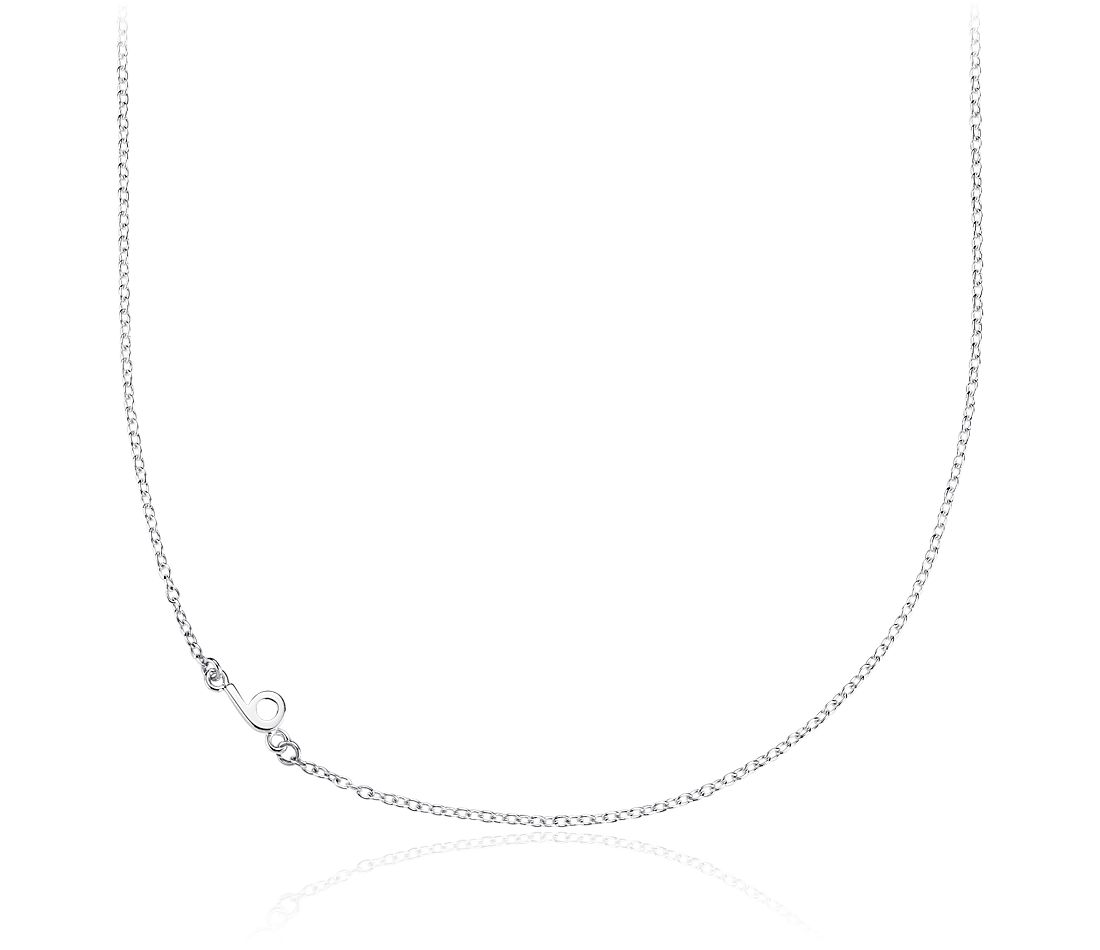 Number Six Necklace in Sterling Silver