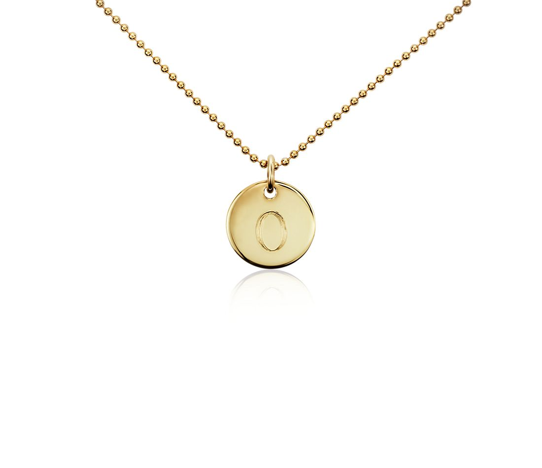 """O"" Mini Initial Pendant in Gold Vermeil"