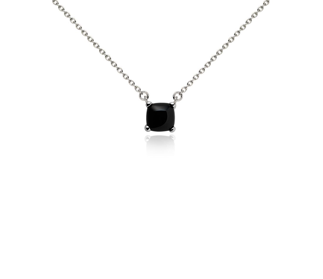 Black Onyx Pendant in Sterling Silver