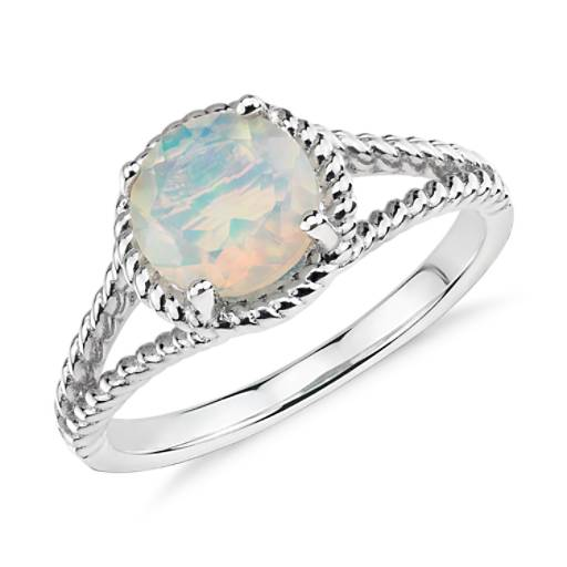 Opal Rope Ring In Sterling Silver 7mm Blue Nile