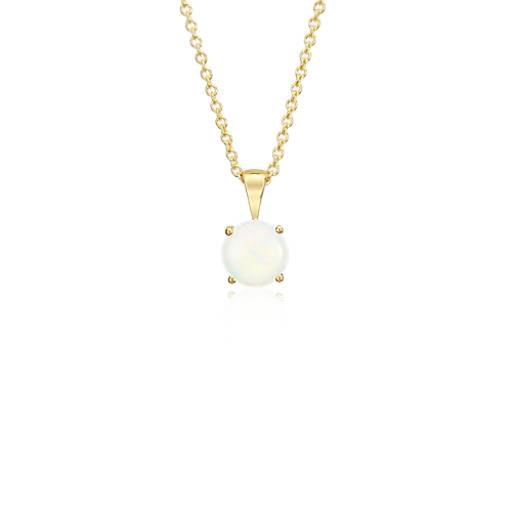 Opal Pendant in 18k Yellow Gold (7mm)
