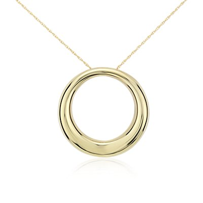 Open Circle Pendant in 14k Yellow Gold
