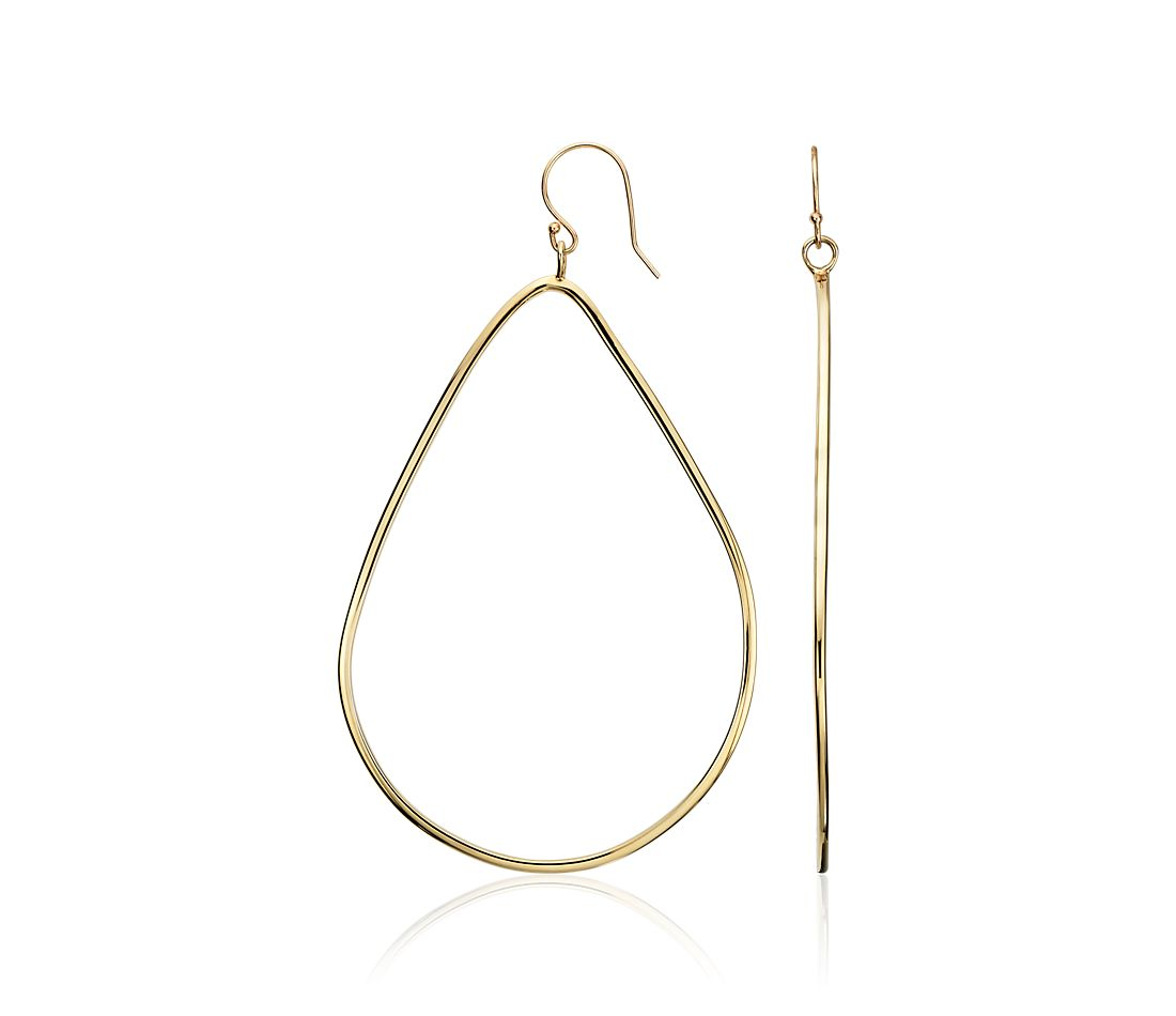 Open Teardrop Dangle Earrings in Gold Vermeil