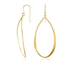 Oval Dangle Earrings in Gold Vermeil