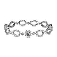 Bracelet diamants ovale en Or blanc 18 ct (7 carats, poids total)