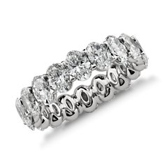 Oval Diamond Eternity Ring in Platinum (4.50 ct. tw.)