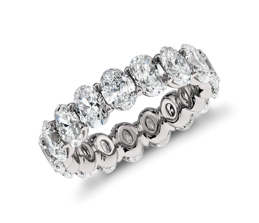 Oval Diamond Eternity Ring in Platinum (5.00 ct. tw.)