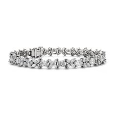 Oval and Marquise Diamond Bracelet in Platinum (10.52 ct. tw.)
