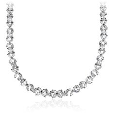 Oval and Marquise Diamond Necklace in Platinum (22.75 ct. tw.)