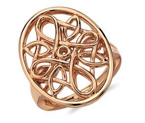 Oval Medallion Ring in 14k Rose Gold
