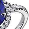 Oval Tanzanite and Diamond Ring in 18k White Gold (6.72 ct. center)
