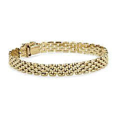 Panther Bracelet in 14k Yellow Gold