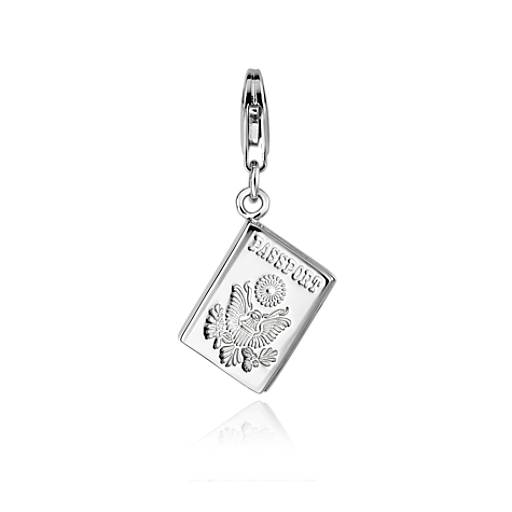 Passport Charm in Sterling Silver
