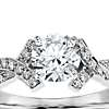 Intertwined Pave Diamond Engagement Ring in 18k White Gold (1/4 ct. tw.)
