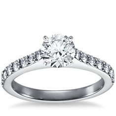 Pavé Diamond Engagement Ring in Platinum (1/2 ct. tw.)