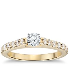Pavé Diamond Engagement Ring in 18k Yellow Gold (1/2 ct. tw.)