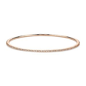 Stackable Pavé Diamond Bangle in 18k Rose Gold (1 ct. tw.)