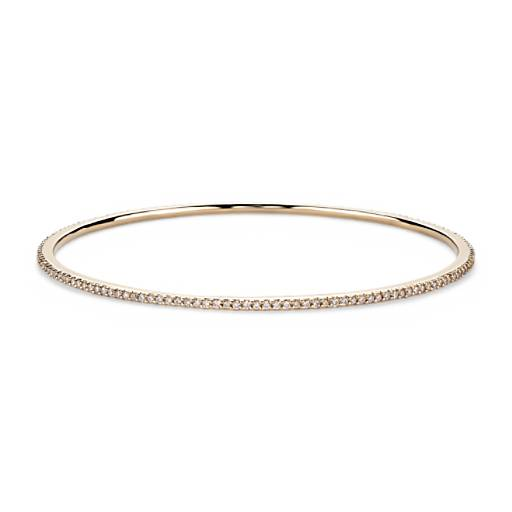 Pave Diamond Bangle in 18k Yellow Gold